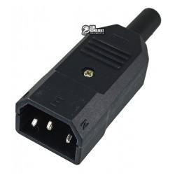 Штекер AC-011, 3PIN на кабель, компьютерный