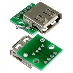 Гнездо USB-AF на PCB плате