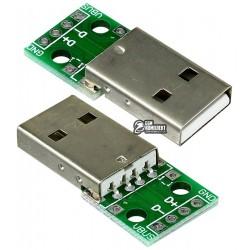 Штекер USB-AM на PCB плате