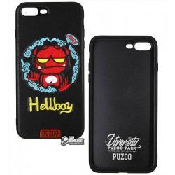 Чехол PUZOO TPU+TPU with stitchwork craft Star show iPhone 7 Plus/8 Plus Black Hellboy