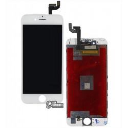 Дисплей iPhone 6S, белый, с сенсорным экраном (дисплейный модуль), с рамкой, original (PRC)