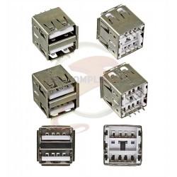 Гнездо USB-02-1-FD-180 USB-A сдвоенное вертикальное