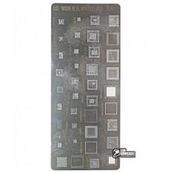 BGA-трафарет A482, MT6582, MSM8939, MSM8996, MSM8974, MSM8956, MSM8928, MT6795, MT6737V, LC860C, 39 in 1
