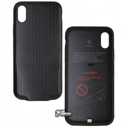 Чехол Baseus Audio Case (Audio+Charge,Double lightning) Black (WIAPIPHX-VI01)