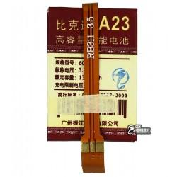 Аккумулятор универсальный для телефона, A23 1350mAh 42,5*30*6,5 мм