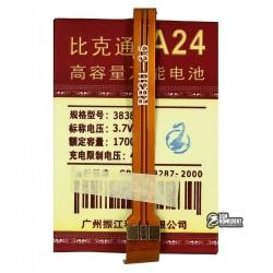 Аккумулятор универсальный для телефона, A24 1700mAh 52,8*38*4,2 мм