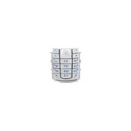 Клавиатура для Nokia 6230, серебристая, русская