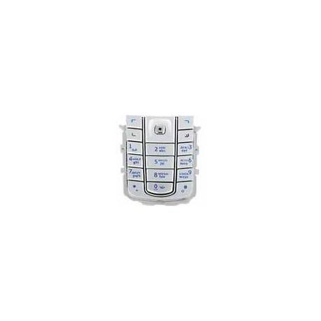 Клавиатура для Nokia 6230i, серебристая, русская