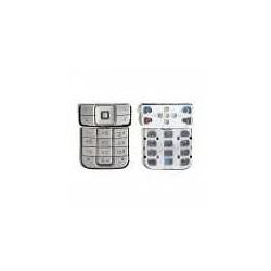 Клавиатура для Nokia 6270, серебристая, русская, верхняя, нижняя