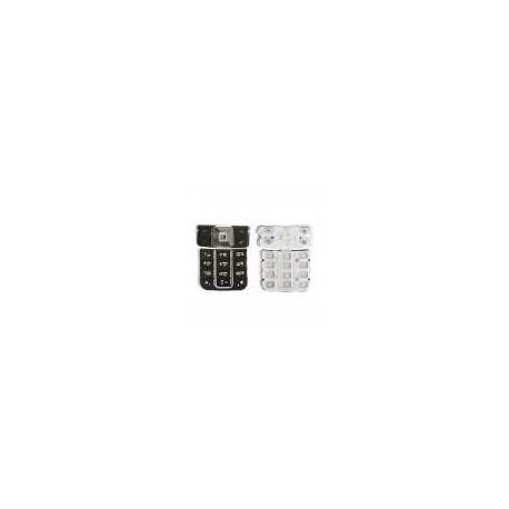 Клавиатура для Nokia 6270, черный, русская, верхняя, нижняя