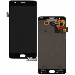 Дисплей для OnePlus 3T A3010, черный, с сенсорным экраном (дисплейный модуль)