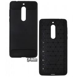 Чехол защитный для Nokia 5, Polished Carbon (SGP Slim Iron), силиконовый, черный