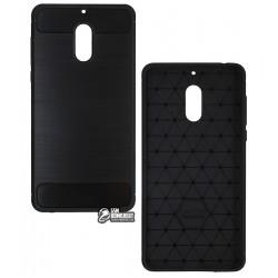 Чехол защитный для Nokia 6, Polished Carbon (SGP Slim Iron), силиконовый, черный