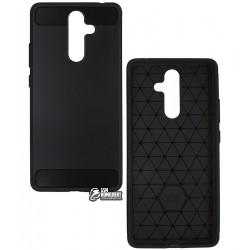 Чехол защитный для Nokia 7 Plus, Polished Carbon (SGP Slim Iron), силиконовый, черный