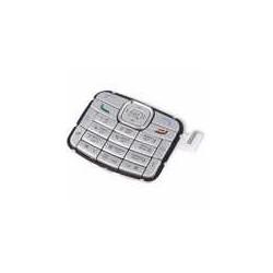 Клавиатура для Nokia N70, серебристый, английская