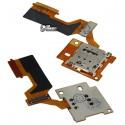 Конектор SIM-карти для HTC One M9, зі шлейфом