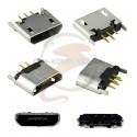Коннектор зарядки Micro-USB 5 pin вертикальный для электронных сигарет и планшетов