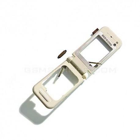Средняя часть корпуса для Nokia 7390, полная, с шлейфом, с повортным механизмом