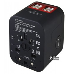 Международное многофункциональное зарядное устройство с 4 портами USB и 3.5А выходом для путешествия