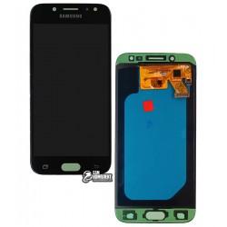 Дисплей для Samsung J530F Galaxy J5 (2017), черный, с сенсорным экраном (дисплейный модуль), (OLED), High Copy