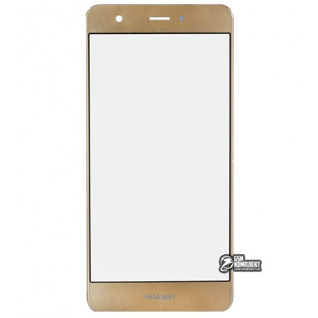 Скло корпусу для Huawei Nova, золотистое