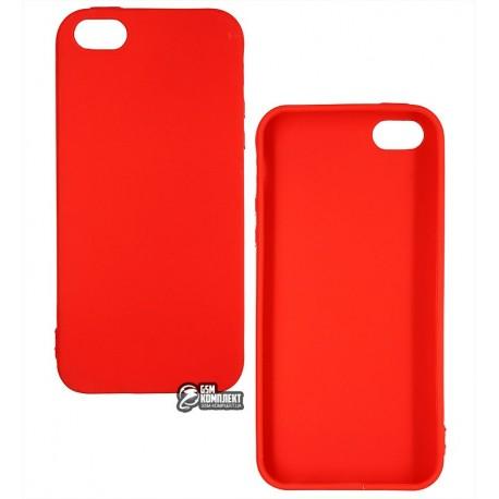 Чехол защитный Smtt для iPhone 5, силиконовый, розовый