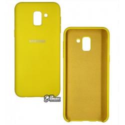 Чехол для Samsung J600 Galaxy J6 (2018), Silicone cover, софт тач, черный