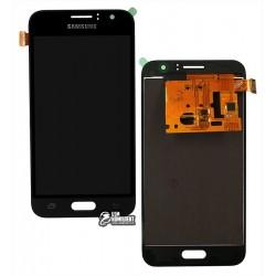 Дисплей для Samsung J120H Galaxy J1 (2016), черный, с сенсорным экраном (дисплейный модуль), с регулировкой яркости, (TFT), Сopy