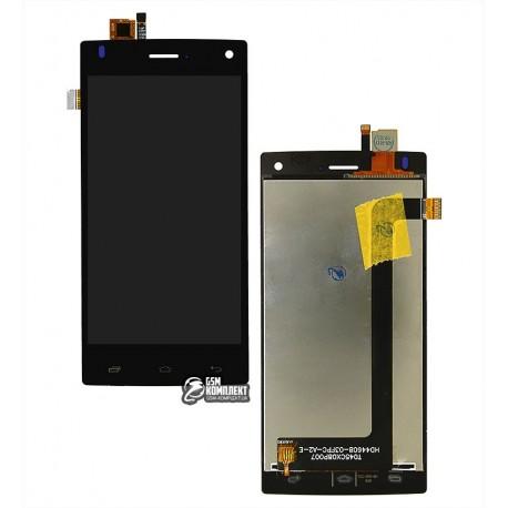 Дисплей для Fly FS452, черный, с сенсорным экраном (дисплейный модуль)
