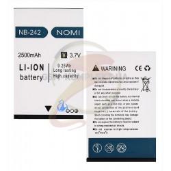 Аккумулятор (акб) NB-242 для Nomi i242, Li-ion, 3,7 В, 2500 мАч, original