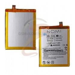 Аккумулятор (акб) NB-506 для Nomi i506 Shine, Li-ion, 3,8 В, 2000 мАч, original