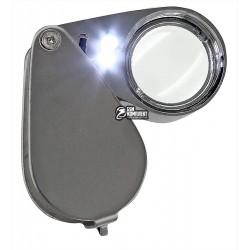 Лупа ручная складная MG21007 c Led подсветкой, 20x d21мм