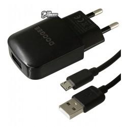 Зарядное устройство Doogee Yj-06, 2A, 1USB, с MicroUSB кабелем