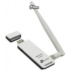 Сетевой адаптер USB TP-LINK TL-WN722N Wi-Fi 802.11g/n 150Mb, USB 2.0, съемная антенна