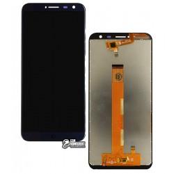 Дисплей для Oukitel C8, синий, с сенсорным экраном (дисплейный модуль)