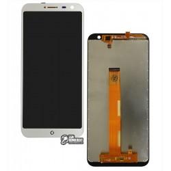 Дисплей для Oukitel C8, серый, с сенсорным экраном (дисплейный модуль)