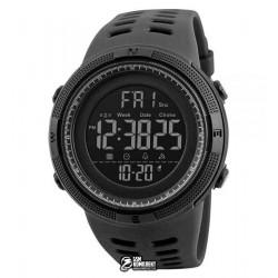 Мужские цифровые кварцевые часы Skmei CONQUER, водонепроницаемые, черные