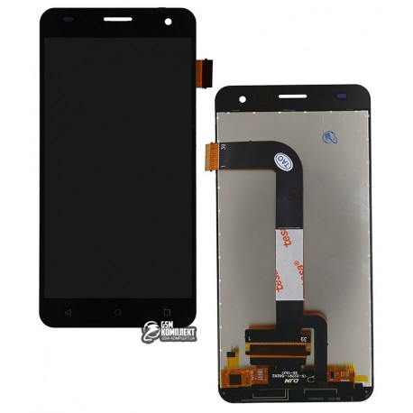 Дисплей для Nomi i504 Dream; Fly FS504, черный, с сенсорным экраном (дисплейный модуль)