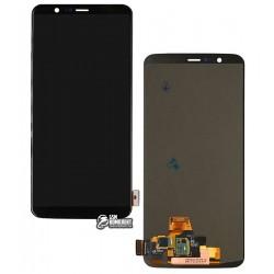 Дисплей для OnePlus 5T A5010, черный, с сенсорным экраном (дисплейный модуль)