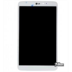 Дисплей для планшета LG G Pad 8.3 V500, белый, с сенсорным экраном (дисплейный модуль)