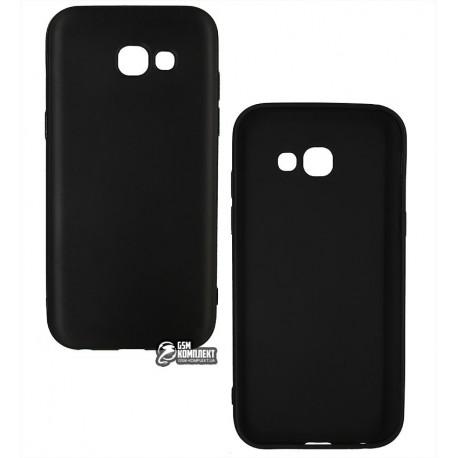 Чехол защитный для Samsung A5 (2017) A520, силиконовый, матовый, черный