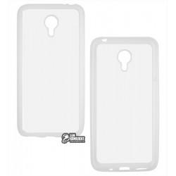 Чехол для Meizu M2 Note, силиконовый, с рамкой , белый