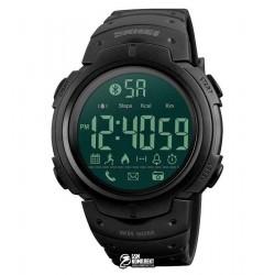 Мужские цифровые часы Skmei 1301, waterproof, Bluetooth, черные