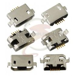 Коннектор зарядки для планшетов; мобильных телефонов, 5 pin, micro-USB тип-B, тип 1