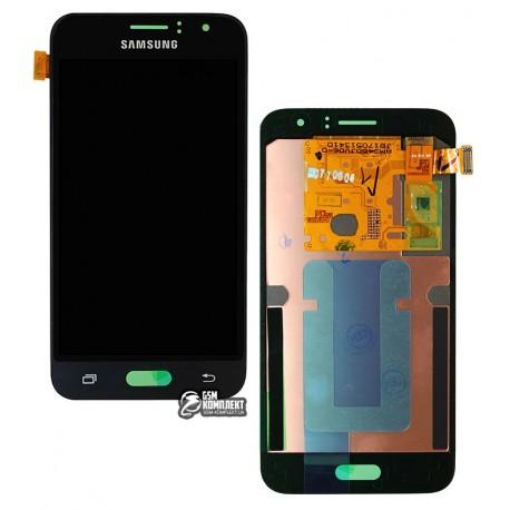 Дисплей для Samsung J120H Galaxy J1 (2016), черный, с сенсорным экраном, original, #GH97-18224C