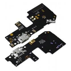 Шлейф для Xiaomi Redmi 5 Plus, микрофона, коннектора зарядки, с компонентами, плата зарядки