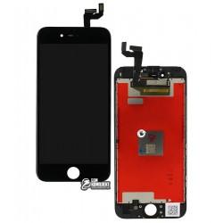 Дисплей iPhone 6S, черный, с сенсорным экраном, с рамкой, Original