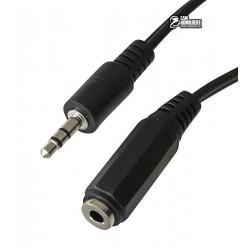 Кабель-удлинитель звуковой - 1.5 м Cablexpert CCA-423, 3.5 мм стерео папа/3.5мм стерео мама