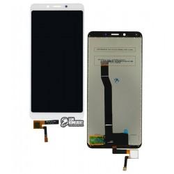 Дисплей для Xiaomi Redmi 6A, белый, с сенсорным экраном (дисплейный модуль), Original (PRC)