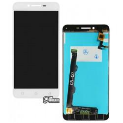 Дисплей для Lenovo A6020a46 Vibe K5 Plus, Lemon 3, белый, с сенсорным экраном (дисплейный модуль)
